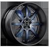 BS3 Black w/ Blue Trim 5 lug