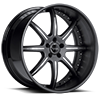 5 LUG BS3 BLACK WITH CHROME INSERTS