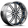 5 LUG BS4 SILVER AND BLUE WITH CHROME LIP