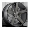 Baller - S116 Black & Machined with Dark Tint 5 lug