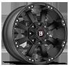 845 Morax Flat Black 6 lug