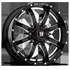 8 LUG 955 ANVIL GLOSS BLACK W/ MILLED WINDOWS