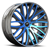 Banded Concave Blue and Black 5 lug
