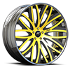 Banded Concave Yellow and Black 5 lug