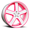 BARRA White/Pink Center, White/Pink Lip 6 lug