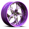 Solo Purple and Black with Purple Lip 5 lug