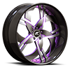 5 LUG SOLO BLACK AND PURPLE WITH CARBON LIP