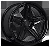 BR05 Gloss Black 5 lug