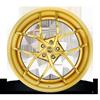 5 LUG CAPRESE HI LUSTER TRANS GOLD / BRUSHED GOLD LIP