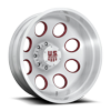 8 LUG CHAMP DUALLY REAR- FORGED HD BRUSHED CLEAR W/ RUBY RED ACCENTS