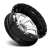 8 LUG CLEAVER DUALLY REAR - D240 CHROME W/ BLACK LIP