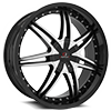 CLV-11 Gloss Black Machined 5 lug