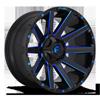 8 LUG CONTRA - D644 GLOSS BLACK W/ CANDY BLUE