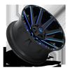 5 LUG CONTRA - D644 GLOSS BLACK W/ CANDY BLUE