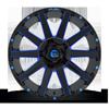 6 LUG CONTRA - D644 GLOSS BLACK W/ CANDY BLUE