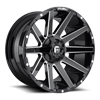 5 LUG CONTRA - D615 GLOSS BLACK & MILLED
