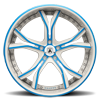 5 LUG CX176 WHITE WITH BLUE INSERTS