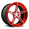 Cambio Candy Red w/ Brushed Face 5 lug