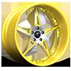 Capo Silver and Yellow 5 lug