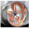 Capo Silver and Orange 5 lug