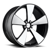 5 LUG CASA BLANCA - F511 GLOSS BLACK WITH BRUSHED FACE