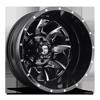 Cleaver Dually Rear - D574 Black & Milled 8 lug