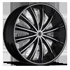 Corona Black Machined 6 lug