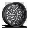 Dazr - XA20 Gloss Black & Milled 6 lug