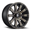Diesel - D636 20x9 +0 | Matte Black/Machined/DDT 6 lug