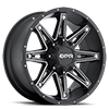 5 LUG GLOC BLACK WITH SILVER TRIM