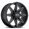 Stealth Black with Milled Spokes 6 lug