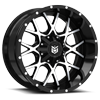 DS645 Satin Black with CNC Milled Lip Accents 6 lug