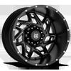 DS652 Satin Black Milled 6 lug