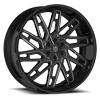 DS656 Gloss Black w/ CNC Milled Accents 6 lug