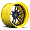 Attack 5 - XA40 Matte Black | Gloss Yellow Lip 5 lug