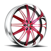 Flex - C22 Pink/Black Center, Chrome Lip 5 lug