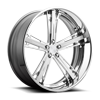 Malice - X83 Brushed Face and Hi Luster Windows 5 lug
