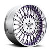 Salante - X90 Brushed w/ Purple Windows and Chrome lip 5 lug