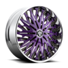 Savant - S714 Purple & Milled 5 lug