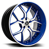 Da Corsa Blue and White 5 lug