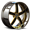 5 LUG DELANO GOLD AND BLACK WITH CHROME LIP
