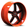 Delano Orange and Black 5 lug