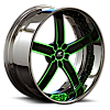 5 LUG DELANO GREEN WITH CHROME LIP