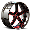 5 LUG DELANO RED WITH CHROME LIP
