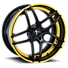 DIECI-ECL Black/Yellow Center, Black/Yellow Lip 5 lug