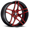 DIECI-ECL Red Center, Black Lip 6 lug
