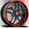DIECI-ECL Carbon/Black/Red Center, Black/Red Lip 5 lug
