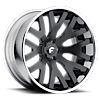 DITO-ECL Smoke Satin Cut-Spoke Center, Chrome Lip 6 lug