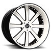 Ditto White and Black 5 lug