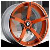 DOPPIO-ECL Orange/Black Center, Chrome Lip 5 lug